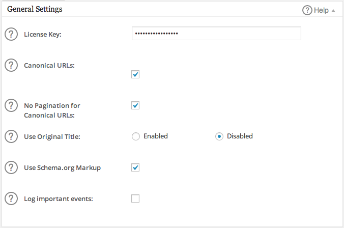General Settings box in All in One SEO Pack Pro