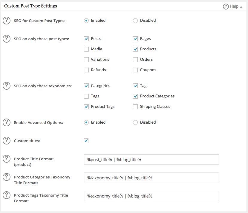 Custom Post Type Settings box in All in One SEO Pack