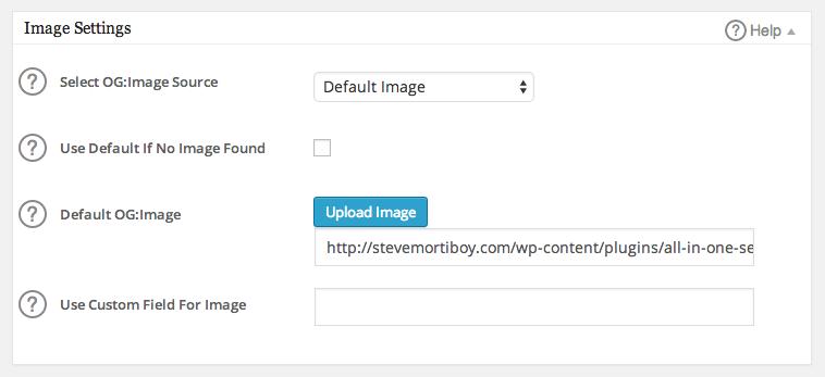 Görüntü Ayarları - All in One SEO Paketi Sosyal Meta modülü