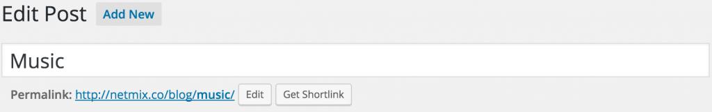 Screenshot of WordPress Post Title Field