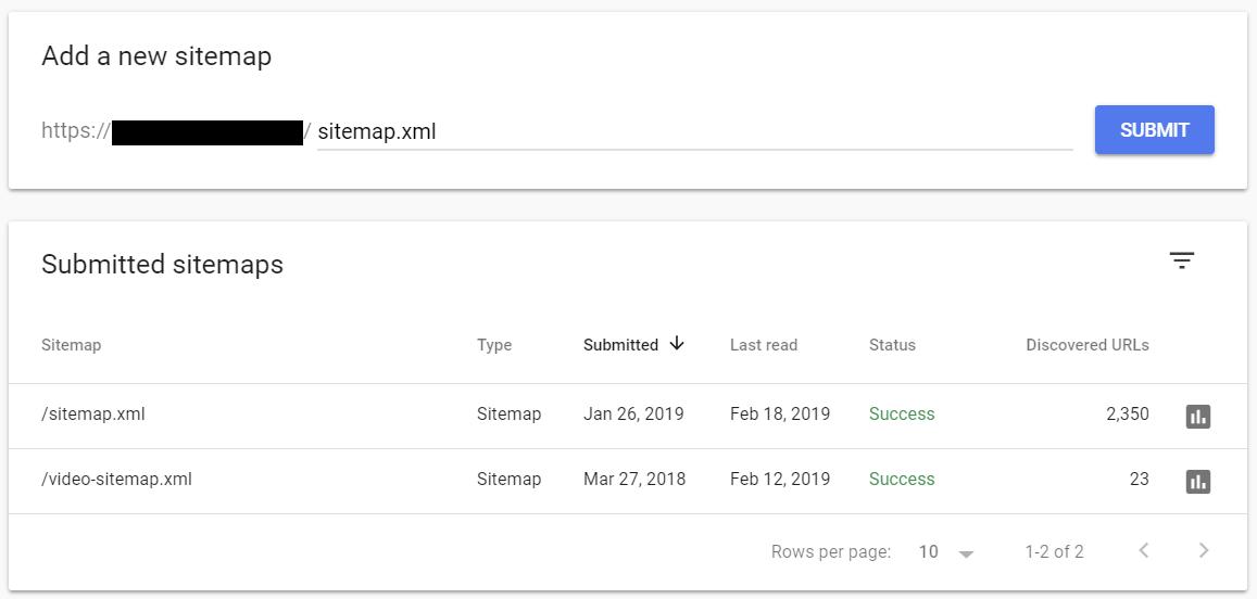 Enter the sitemap slug of your website.
