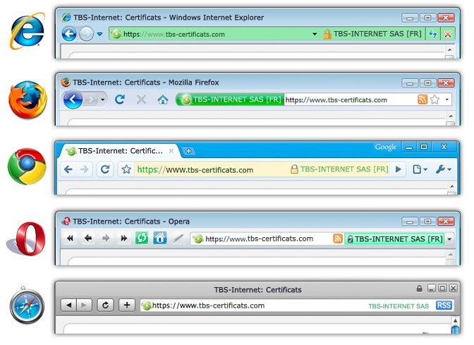 HTTPS certificate per browser