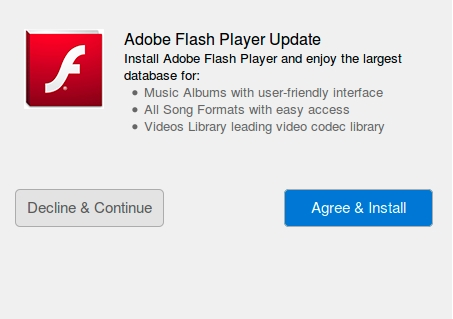 Fake Adobe Flash update